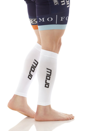 Elite Graduated Compression Calf Sleeves - White