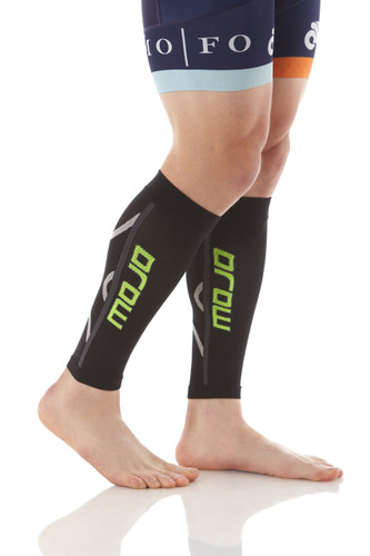 Pro Graduated Compression Calf Sleeves - Black