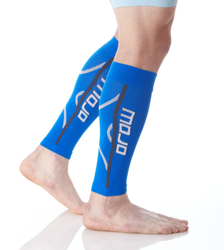 A607Blue, Firm Support (20-30mmHg) Blue Knee High Compression Socks, Rear View