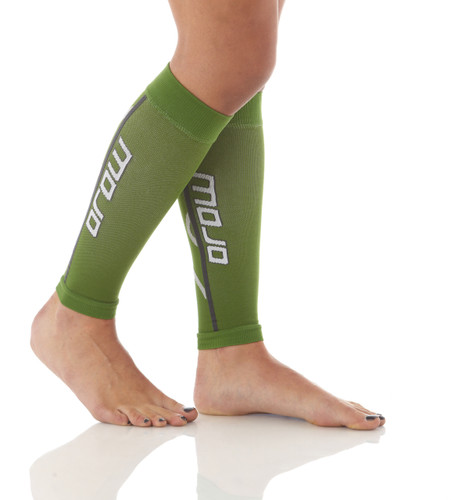 Pro Graduated Compression Calf Sleeves - Green