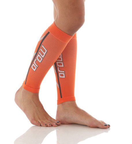 A607OR, Firm Support (20-30mmHg) Orange Knee High Compression Socks, Rear View