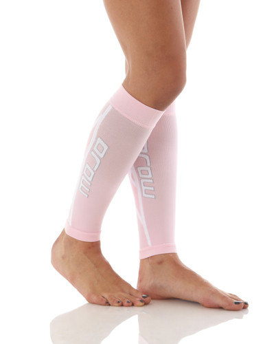 Pro Graduated Compression Calf Sleeves - Pink
