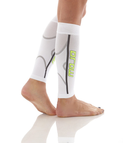 Pro Graduated Compression Calf Sleeves - White