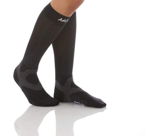 Warrior Power Compression Socks for Performance & Recovery - Black