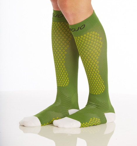 Warrior Power Compression Socks for Performance & Recovery - Green