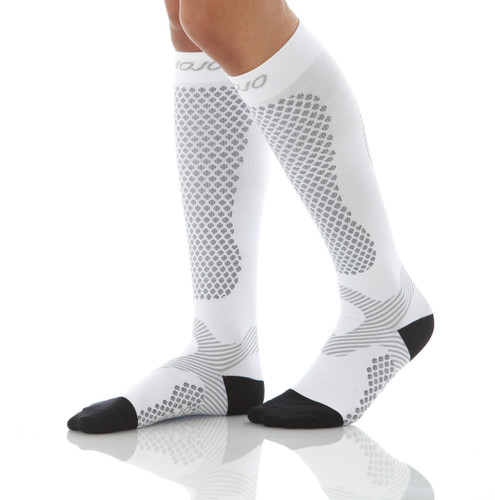 Mojo Compression Socks™ Warrior Power Compression Socks for Performance & Recovery - White