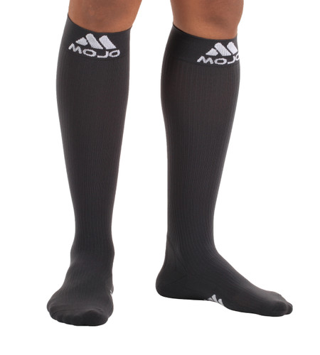 Elite Coolmax Recovery Compression Socks - Carbon Gray