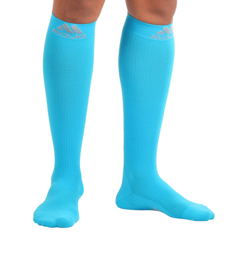 Elite Coolmax Recovery Compression Socks - Sky