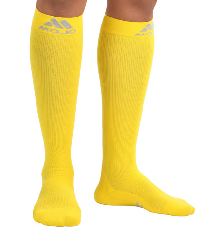 Mojo Compression Socks™ Elite Coolmax Recovery Compression Socks - Yellow