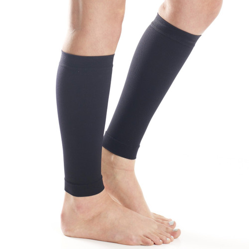 Mojo Compression Socks™ Compression Calf Sleeves  - Firm Support (20-30mmHg) Black