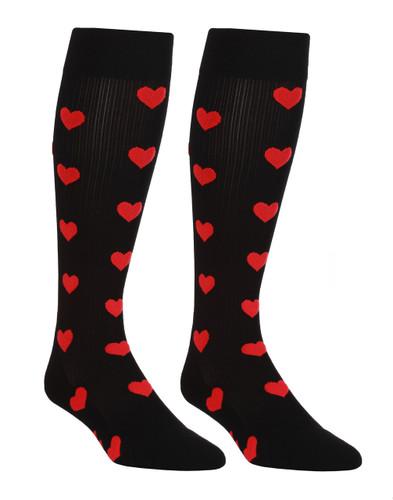 Mojo SweetHearts Black Compression Socks