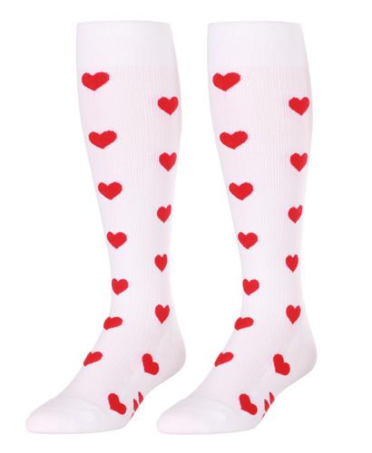 Mojo SweetHearts White Compression Socks