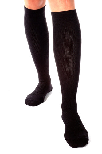 Men's Opaque Compression Socks Firm Support (20-30mmHg) Black