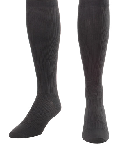 Mojo Compression Socks™ Men's Opaque Compression Socks Firm Support (20-30mmHg) Grey