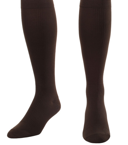 Mojo Compression Socks™ Men's Opaque Compression Socks Firm Support (20-30mmHg) Brown