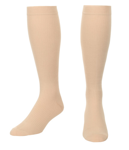 Mojo Compression Socks™ Men's Opaque Compression Socks Firm Support (20-30mmHg) Tan