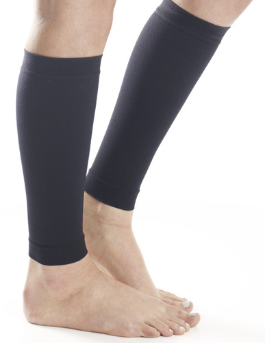 Calf Compression Running Sleeves  - Medium Support (15-20mmHg) Black