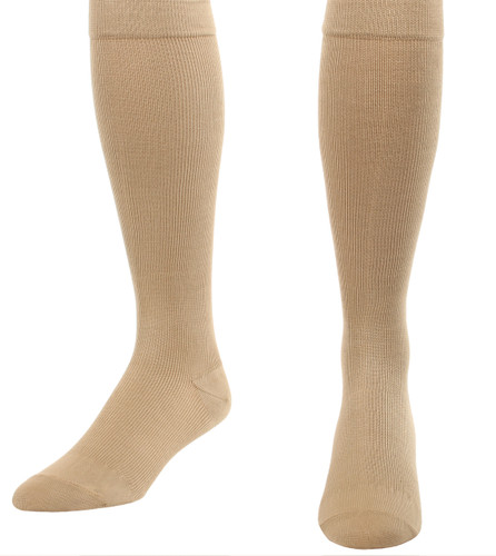 Unisex Cotton Compression Socks Firm Support (20-30mmHg ) Khaki
