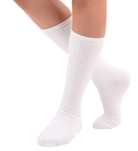 Unisex Walking Compression Socks -- Light Support White