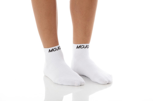 Mojo Compression Socks™ CoolMax Sport Compression Anklets - White
