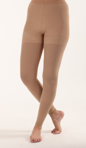 Mojo Compression Socks™ Graduated Opaque Compression Leggings Beige