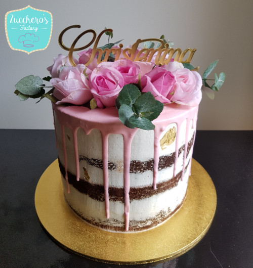 Christening Semi Naked Cake-8268