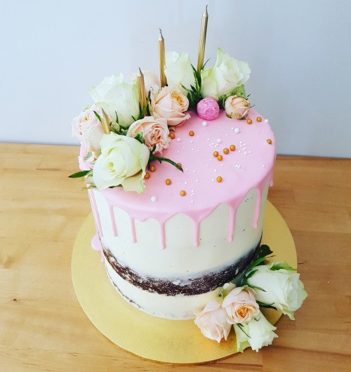 Naked 30th Birthday Cake