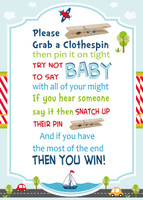 Cars, Trucks and Planes Transport Boy Clothespin Game, baby shower games,phone digital games,Birthday games