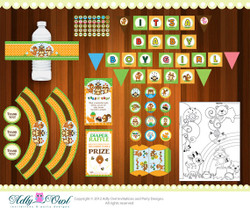 Forest/Woodland Baby Shower Printable Party Kit with forest animals - ONLY digital file - you print