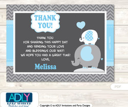 Thank you Printable Card with Name Personalization for Baby Shower or Birthday Party