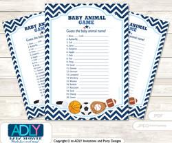 Printable Boy MVP Baby Animal Game, Guess Names of Baby Animals Printable for Baby MVP Shower, Basketball, All Star