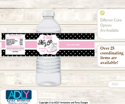 Printable Girl Jumpman Treat or Goodie bag Toppers for Baby Girl Shower or Birthday DIY Pink Black, Sneakers  Girl Jumpman Water Bottle Wrappers, Labels for a Jumpman  Baby Shower, Pink Black, Sneakers