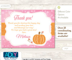 Thank you Printable Card with Name Personalization for Baby Shower