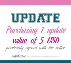 Update for 5 USD privously agreed with the seller.