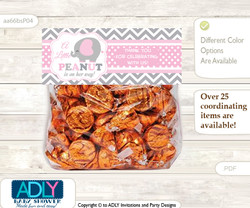 Printable Girl Elephant Treat or Goodie bag Toppers for Baby Girl Shower or Birthday DIY Polka, Chevron