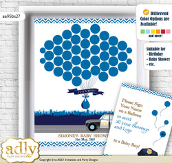 Boy Police Guest Book Alternative for a Baby Shower, Creative Nursery Wall Art Gift, Sheriff, Chevron