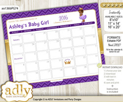 African Princess Baby Due Date Calendar, guess baby arrival date game n