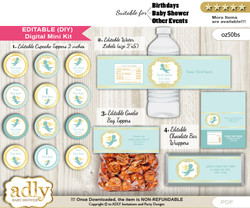 DIY Text Editable Boy Angel Baby Shower, Birthday digital package, kit-cupcake, goodie bag toppers, water labels, chocolate bar wrappers v