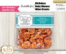DIY Text Editable Peanut Unisex Goodie  Treat Bag Toppers, Favor Bag Digital File, print at home