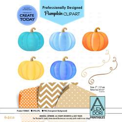 Colorful BoyHalloween Pumpkin bow Clipart,colors clip art,harvest,halloween baby shower-64ca