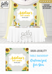 Sunflower yellow and gray backdrop,baby shower candy Table Digital Backdrop, Birthday Party, Gray Yellow sunflower, Flower, Floral 4x4 or 4wx6h