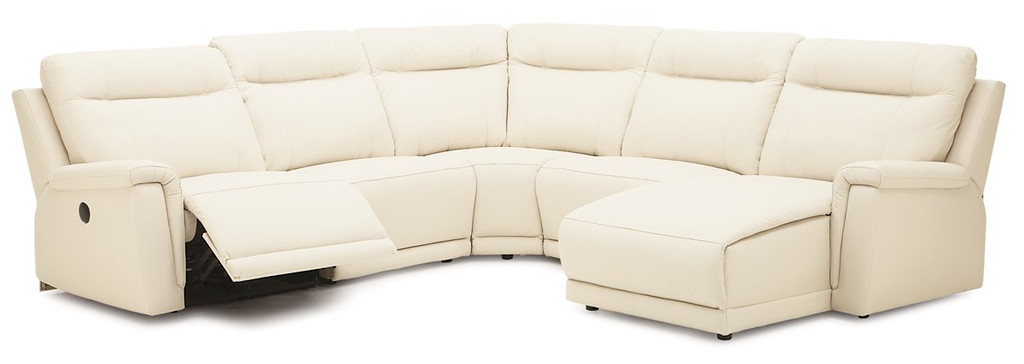 5pc Sectional 1 recliner as shown.