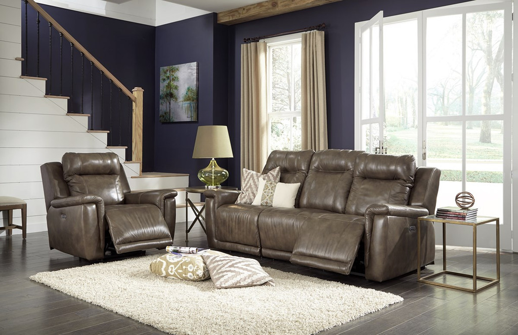 Palliser 41055 Riley Pwer Head/Seat Recliner Sofa