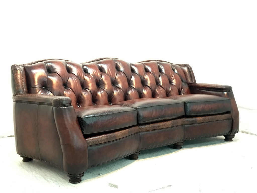 Chatsworth Leather Sofa American Heritage Custom Leather Made In Usa