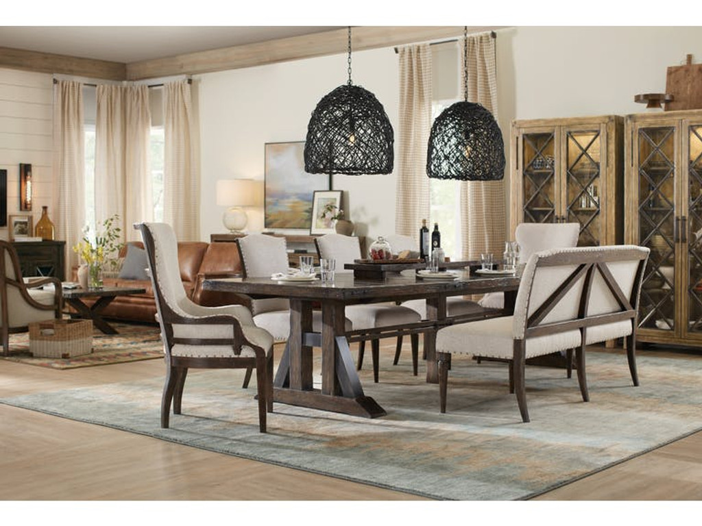 ... Hooker Furniture Dining Room Trestle Dining Table W/2 21 In Leaves ...