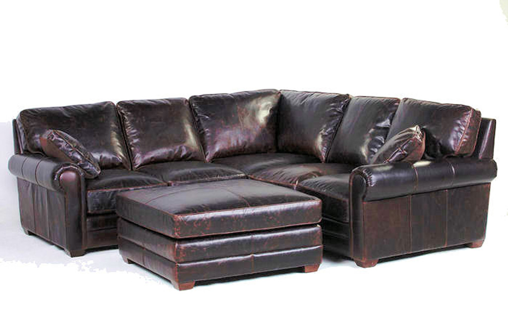 2pc Sectional Config #9-  (Ottoman extra charge/no Pillows)