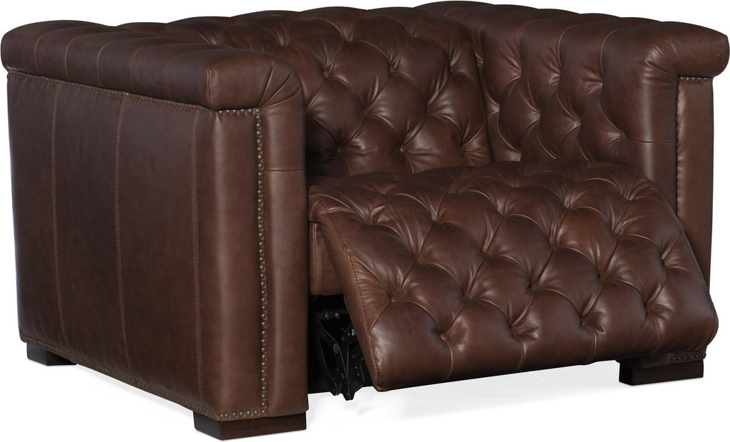 Power Motion recliner color 089 chocolate aniline leather