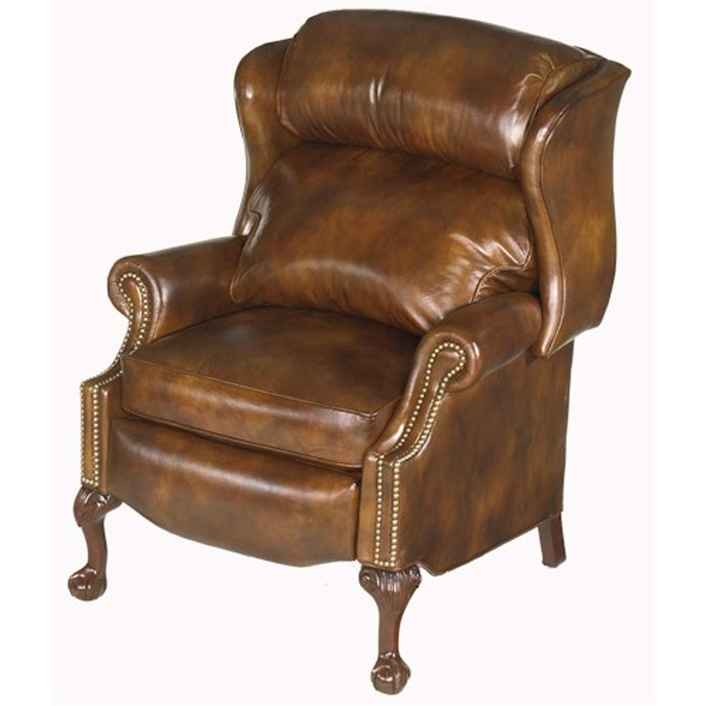 Bradington Young Leather Ball Claw Recliner 4115