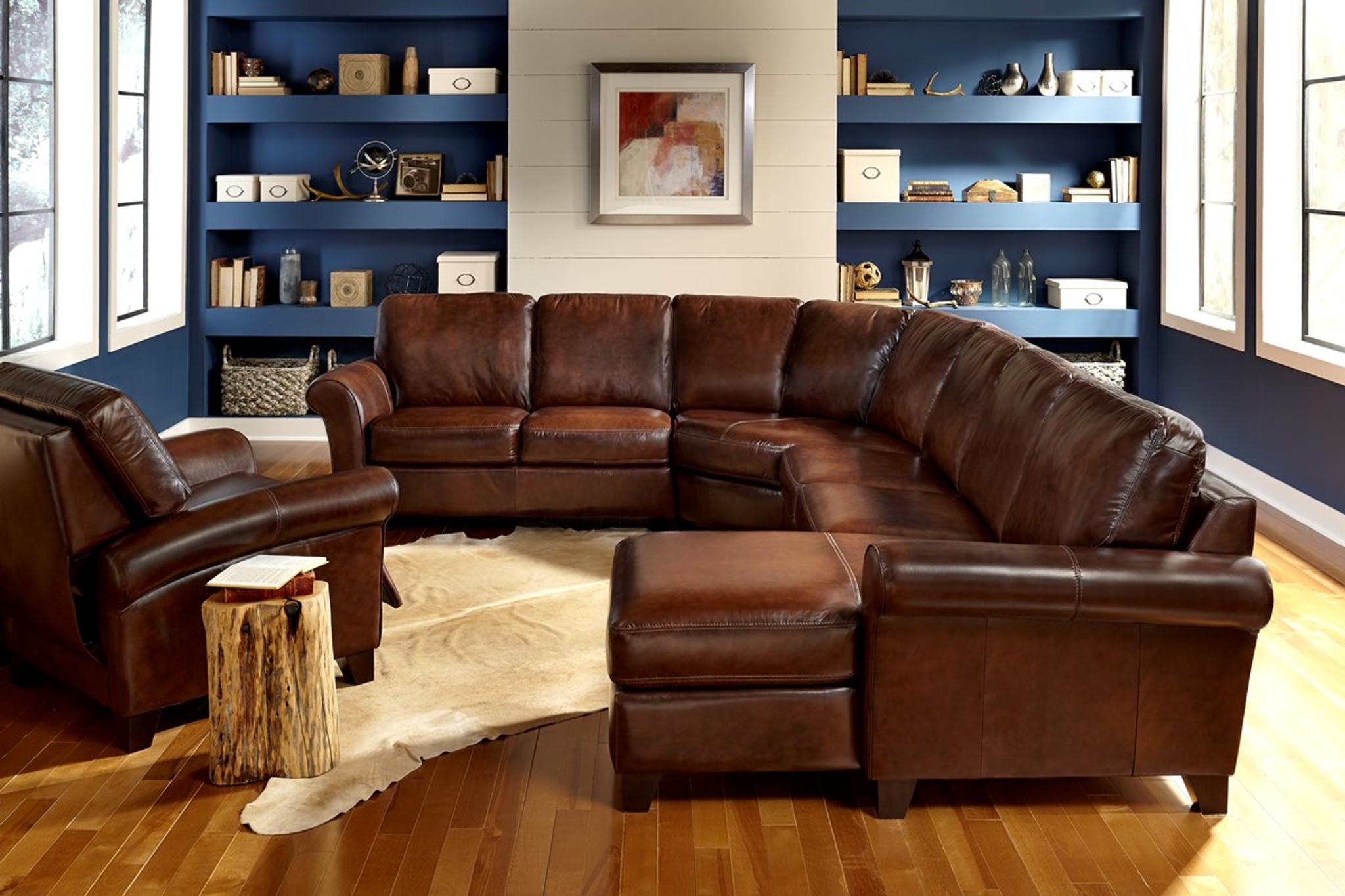 palliser leather sofa