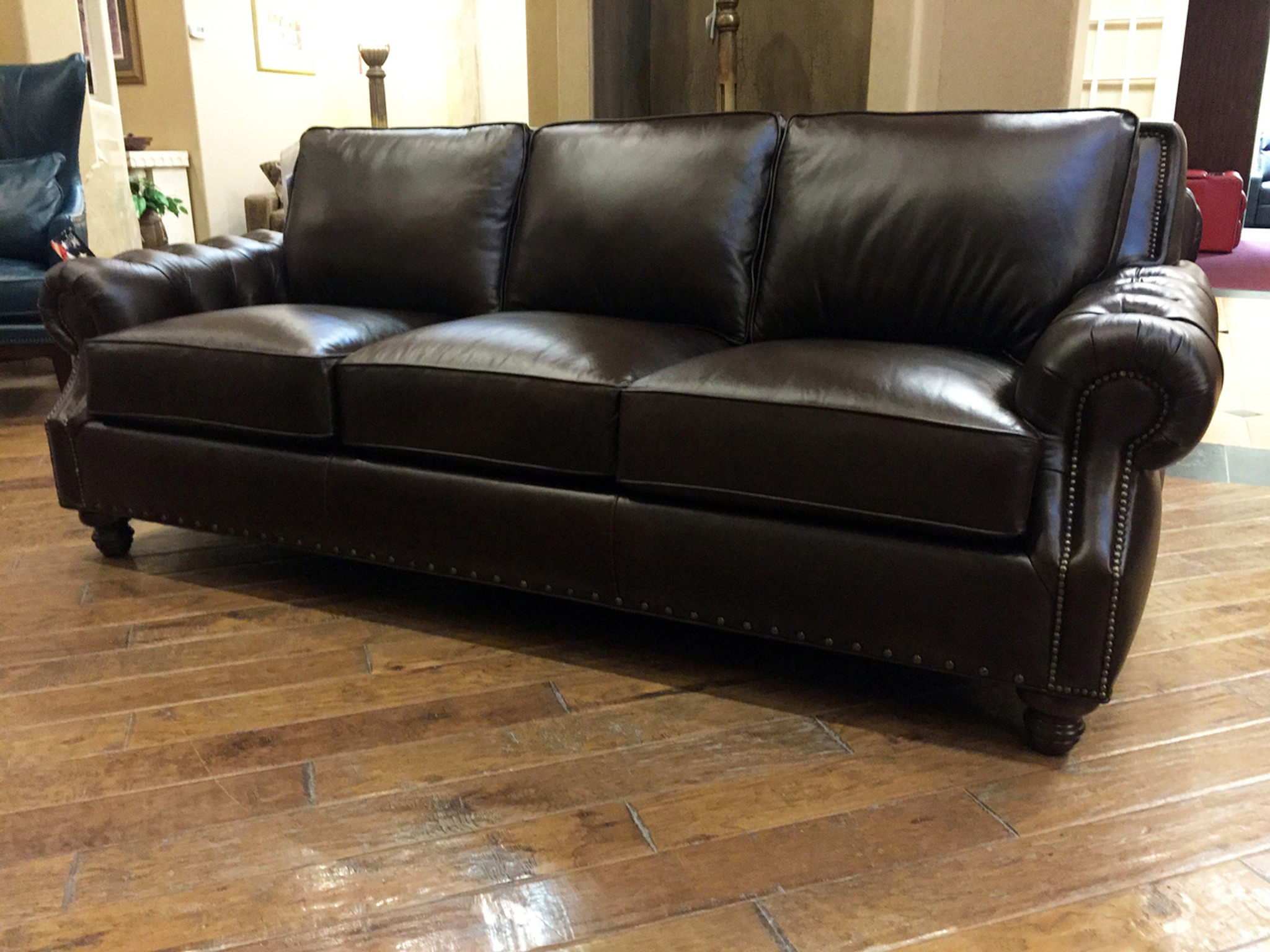 London Leather Sofa American Heritage Custom Leather